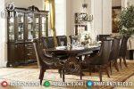 Set Meja Makan Jati Mewah Model Klasik Terbaru ST-0717