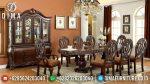 Set Meja Makan Klasik Modern Bahan Jati Mewah ST-0740