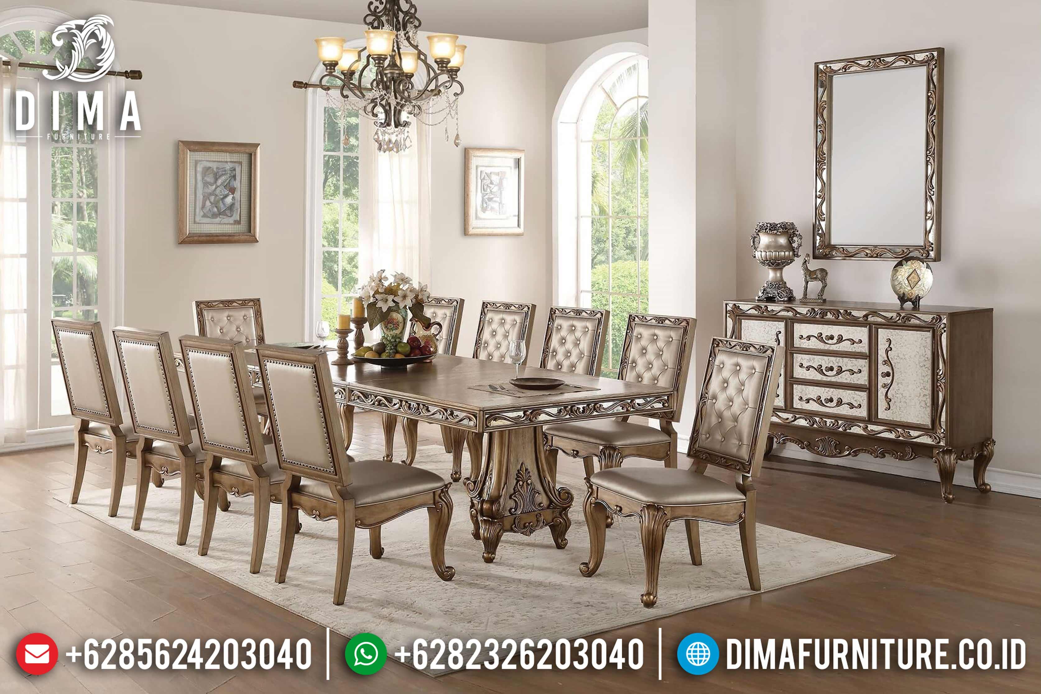 Set Meja Makan Mewah Jumbo Klasik Terbaru ST-0715