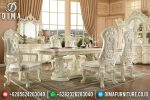 Set Meja Makan Mewah Ukir Klasik Victorian Terbaru ST-0692