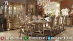 Set Meja Makan Ukir Jepara Mewah Model Klasik Terbaru ST-0733