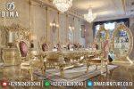 Set Meja Makan Ukir Klasik Mewah Terbaru ST-0694