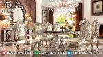 Set Meja Makan Ukir Mewah Klasik Mebel Jepara Terbaru ST-0726