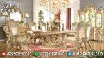 Set Meja Makan Ukir Mewah Mebel Jepara Klasik Terbaru ST-0727