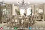 Set Meja Makan Ukir Oval Mebel Jepara Mewah Terbaru ST-0697