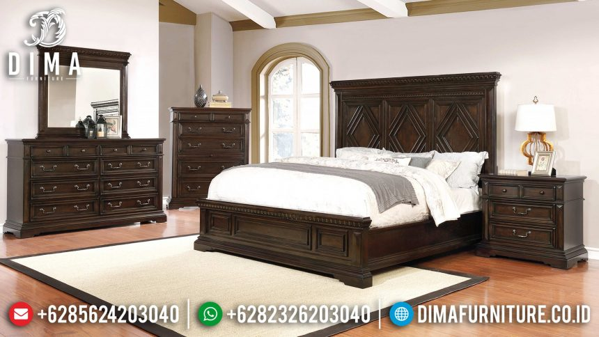 Set Tempat Tidur Jati Minimalis Modern Terbaru ST-0747