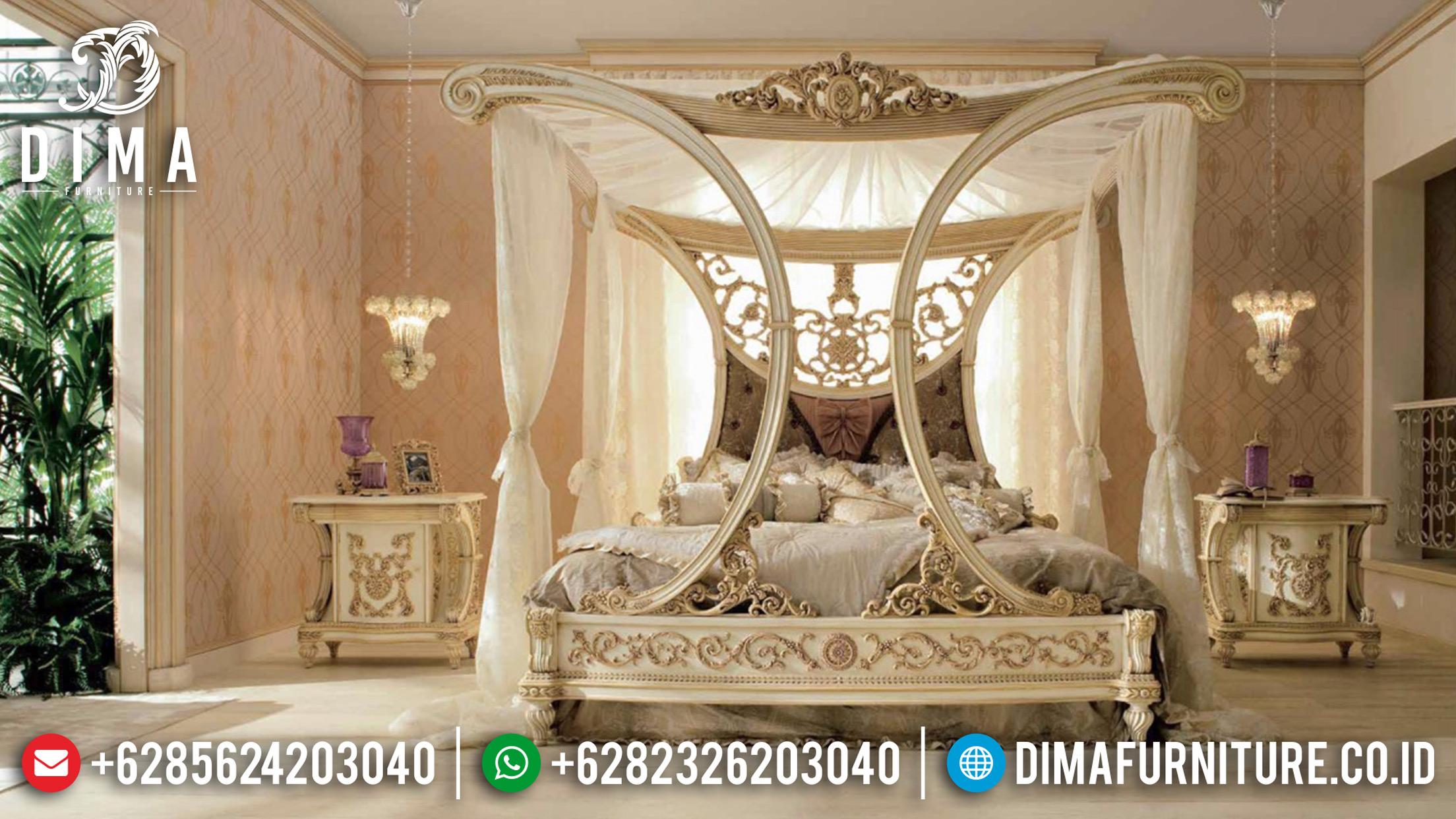 Set Tempat Tidur Mewah Mebel Jepara Klasik Terbaru ST-0744