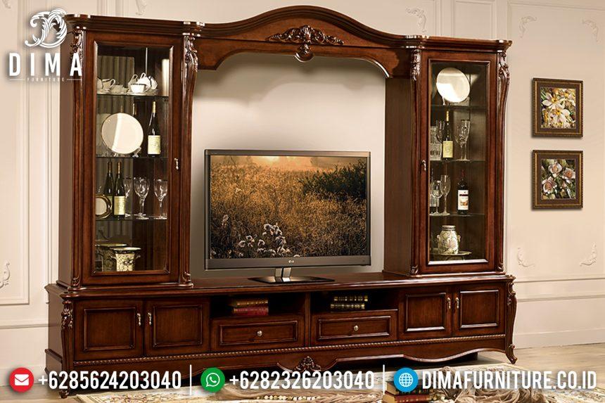 Bufet Tv Jati Mewah Klasik Modern Terbaru ST-0793