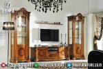 Set Bufet Tv Jati Natural Klasik Mewah Terbaru ST-0773