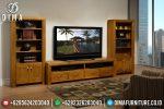 Set Bufet Tv Modern Kayu Jati Mewah Terbaru ST-0772