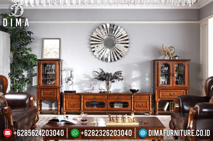 Set Bufet Tv Natural Jati Mebel Jepara Terbaru ST-0809