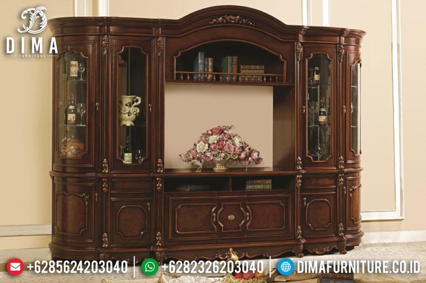 Set Bufet Tv Natural Jati Mewah Klasik Terbaru ST-0794