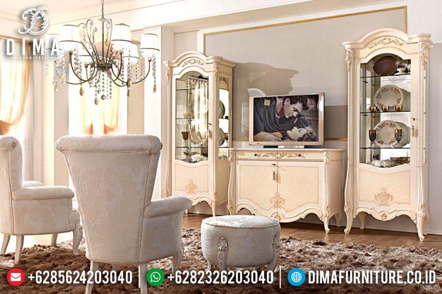 Set Bufet Tv Ukir Jepara Klasik Mewah Terbaru ST-0789