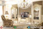 Set Bufet Tv Ukir Jepara Mewah Duco Klasik Terbaru ST-0779