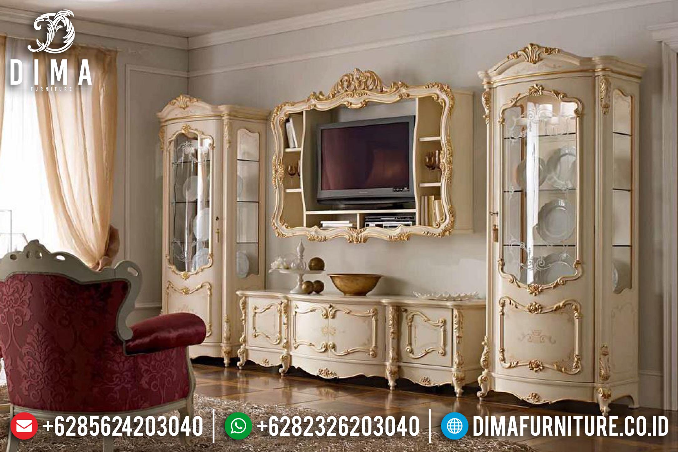 Set Bufet Tv Ukir Jepara Mewah Model Eropa Terbaru ST-0788