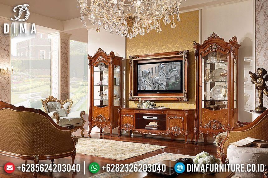 Set Bufet Tv Ukir Mewah Mebel Jepara Klasik Terbaru ST-0767