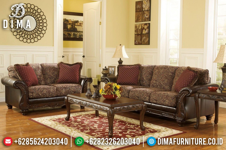 Set Kursi Sofa Tamu Jati Mewah Klasik Terbaru ST-0781
