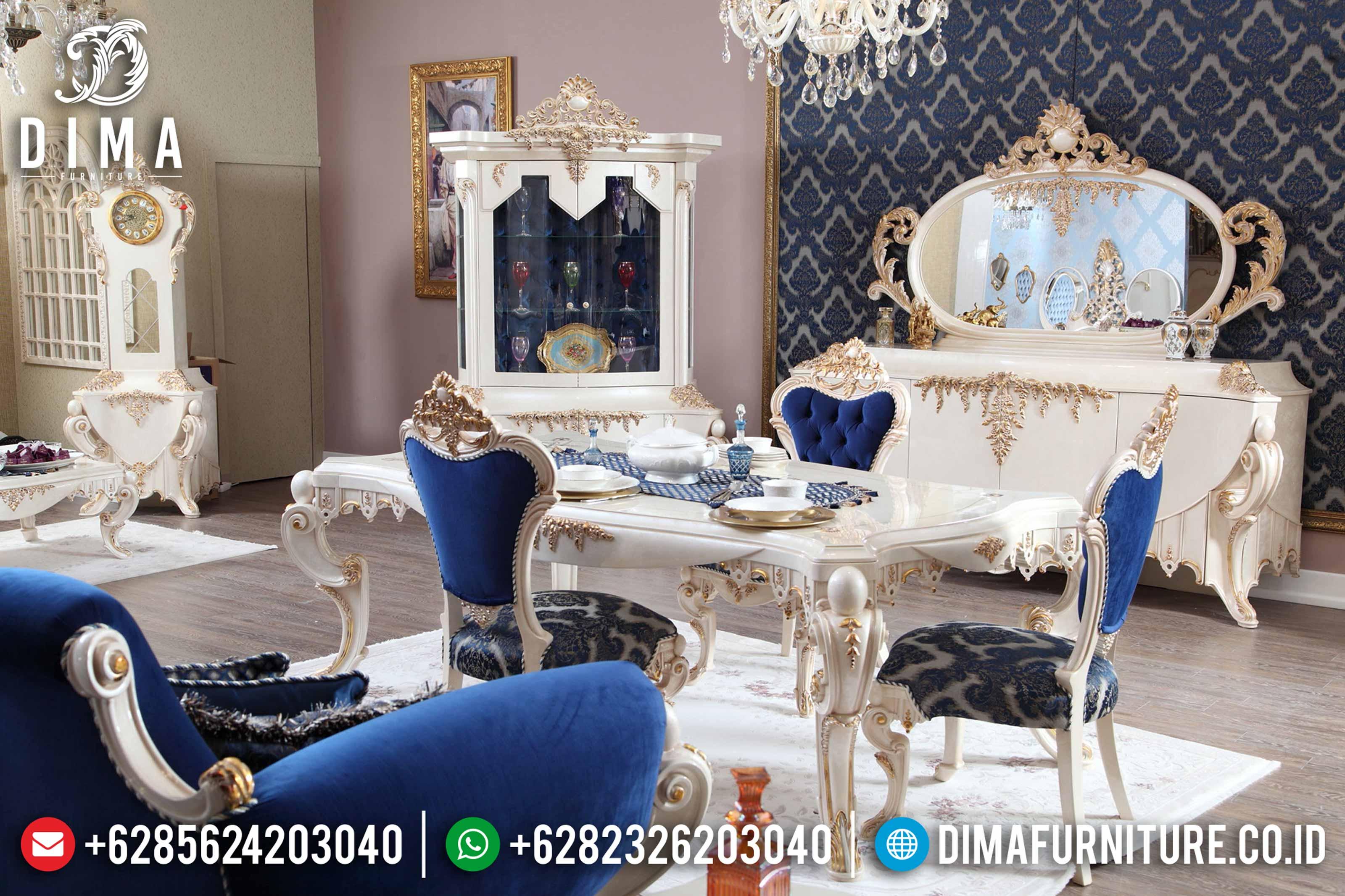 Set Meja Kursi Makan Duco Klasik Mewah Terbaru ST-0791