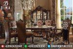 Set Meja Kursi Makan Mewah Jati Klasik Terbaru ST-0803