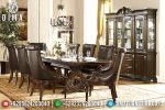 Set Meja Makan Jati Natural Klasik Mewah Terbaru ST-0805