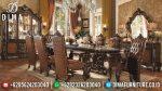 Set Meja Makan Jati Ukir Klasik Natural Mewah Terbaru ST-0824