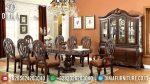 Set Meja Makan Mewah Jati Oval Ukir Mewah Terbaru ST-0834