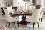 Set Meja Makan Mewah Modern Natural Jati Terbaru ST-0817