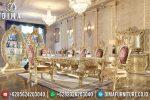 Set Meja Makan Ukir Jepara Klasik Mewah Terbaru ST-0797