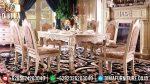 Set Meja Makan Ukir Jepara Klasik Mewah Terbaru ST-0830