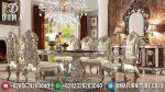 Set Meja Makan Ukir Klasik Mebel Jepara Mewah Terbaru ST-0831