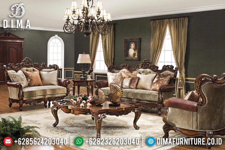 Set Sofa Tamu Ukir Mewah Eropa Klasik Terbaru ST-0782