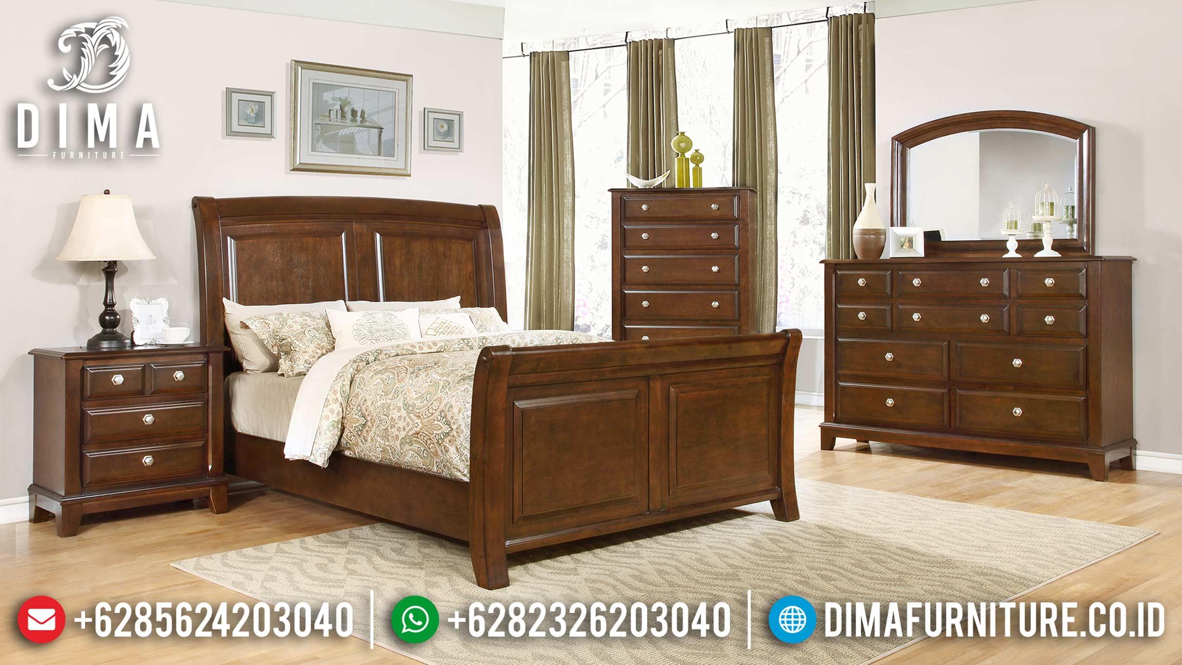 Set Tempat Tidur Minimalis Modern Kayu Jati Terbaru ST-0822