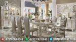 Set Meja Makan Eropa Klasik Ukir Jepara Mewah Terbaru ST-0852