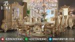 Set Meja Makan Eropa Klasik Ukir Mewah Terbaru ST-0853