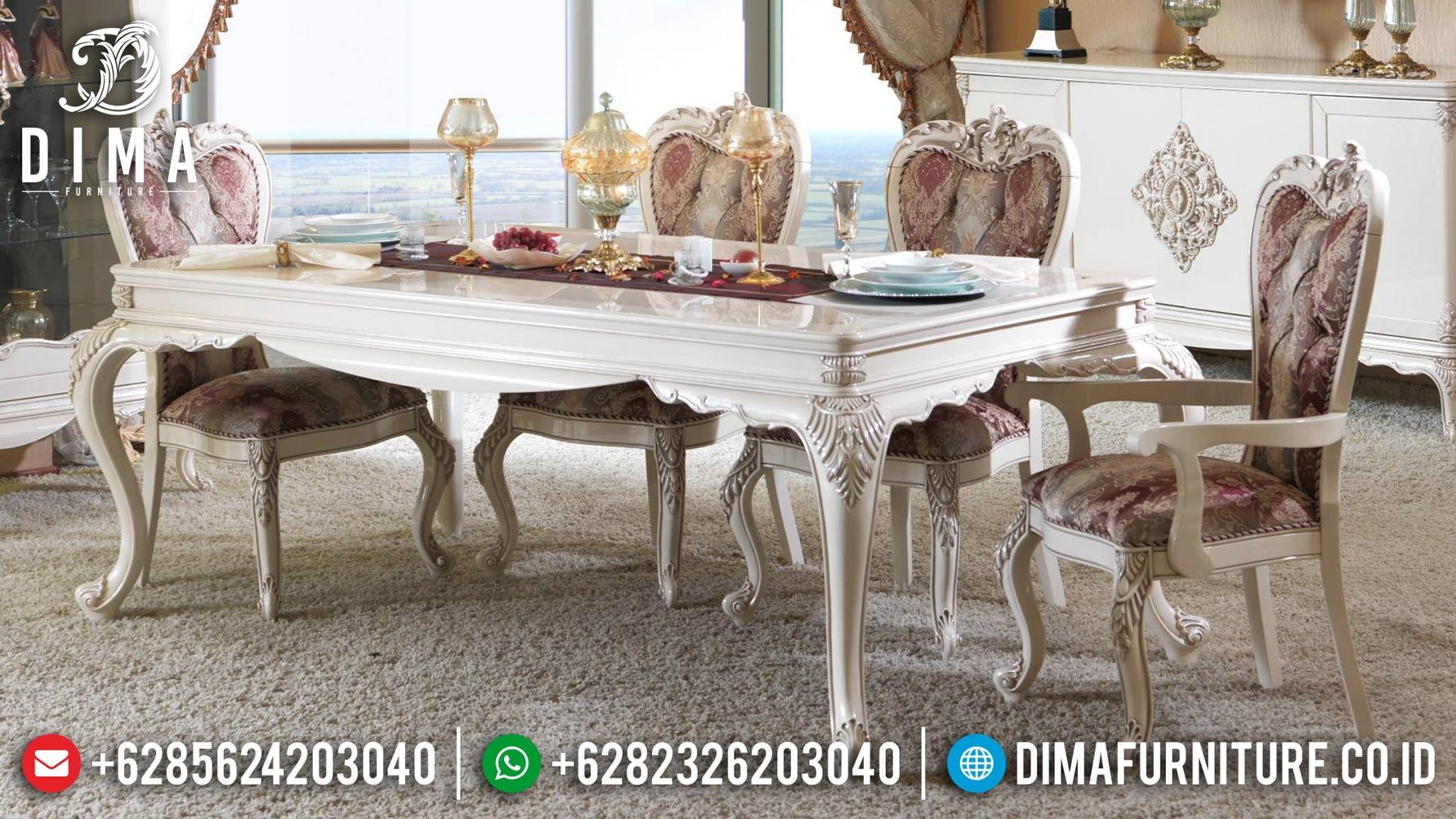 Set Meja Makan Klasik Mewah Duco Mebel Jepara Terbaru ST-0837