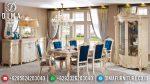 Set Meja Makan Ukir Jepara Klasik Mewah Terbaru ST-0849