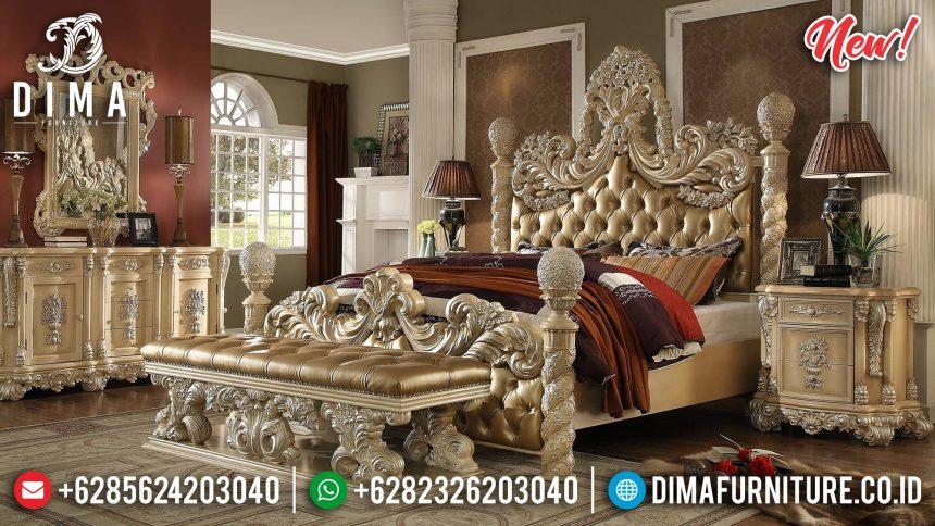 Masterpiece Tempat Tidur Jepara Ukiran Victorian Gold Leaf ST-0858