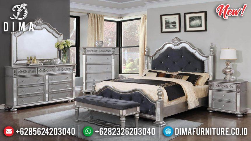 Tempat Tidur Jepara Model Minimalis Silver Mirror ST-0859