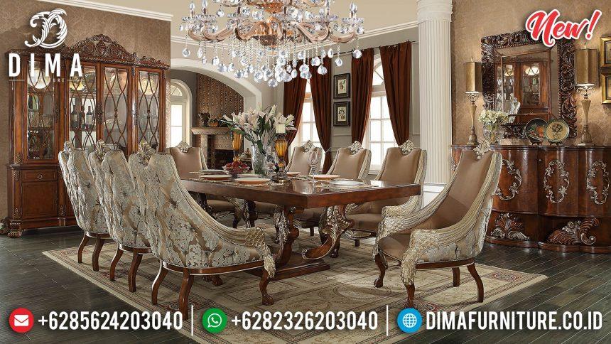 Set Meja Makan Klasik Glamor Natural Kombinasi Duco ST-0875