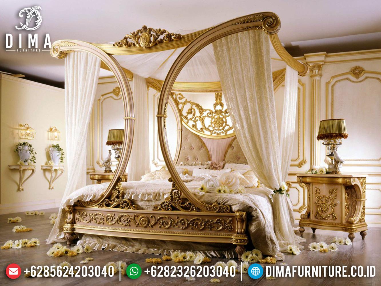 Furniture Jepara Tempat Tidur Mewah Gaya Princes Inggris Ukiran Mewah ST-0883