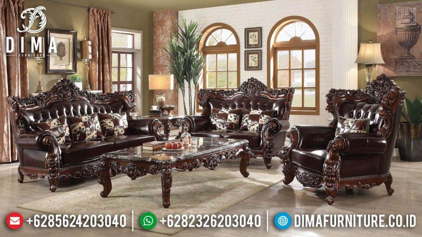 Harga Set Sofa Tamu Mewah Jepara Natural Jati Ukiran Klasik ST-0887