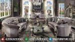 Jual Sofa Tamu Mewah Duco Silver Furniture Jepara Luxury ST-0884