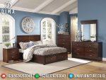 Jual Tempat Tidur Jati Minimalis Natural Classic Mebel Jepara ST-0880