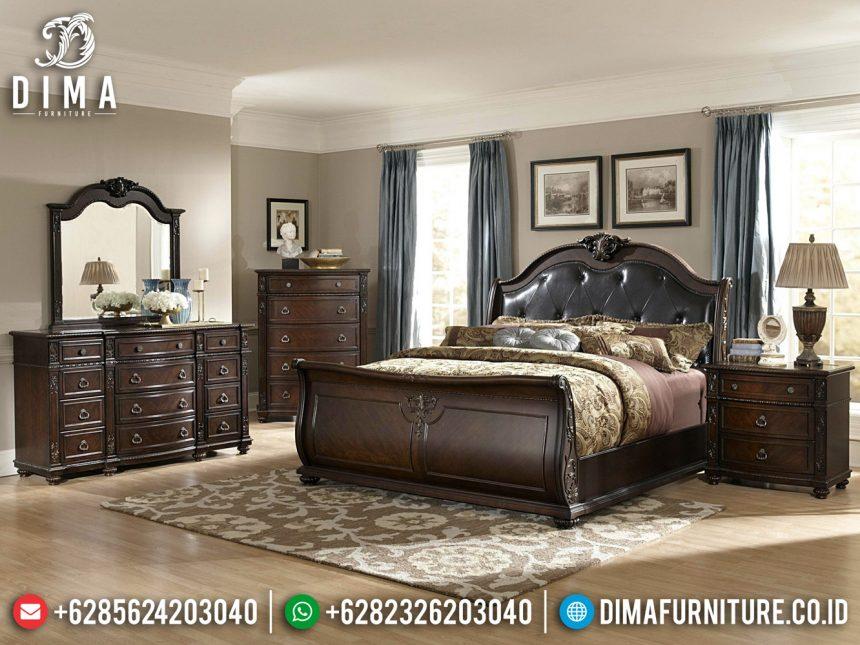 Tempat Tidur Jati Natural Minimalis Classic Furniture Jepara Terbaru ST-0876