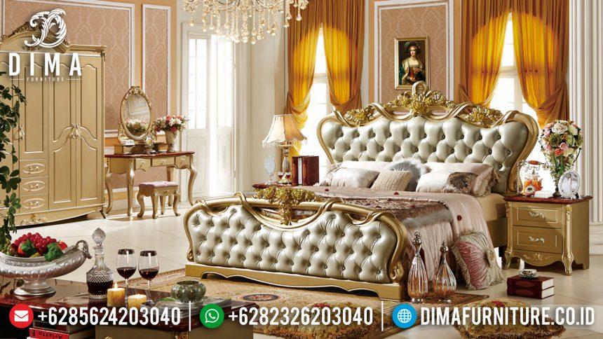 Elegan Furniture Dipan Kamar Set Mewah Jepara Gold Duco ST-2026