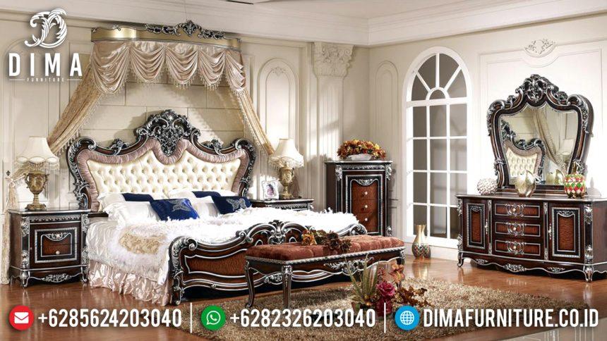 Excellent Tempat Tidur Jepara Mewah Megah Ukir Classic Natural ST-2027