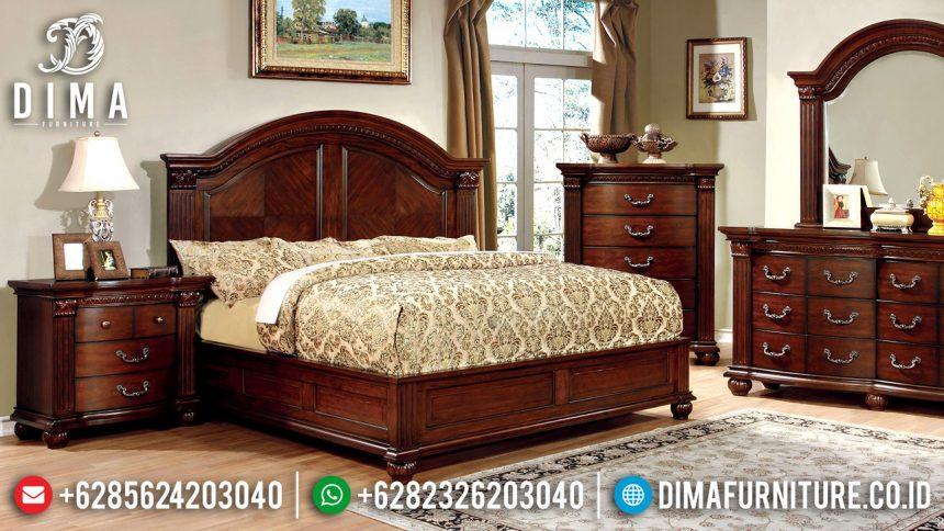 Jual 1 Set Tempat Tidur Jepara Jati Minimalis Natural Finish ST-2021