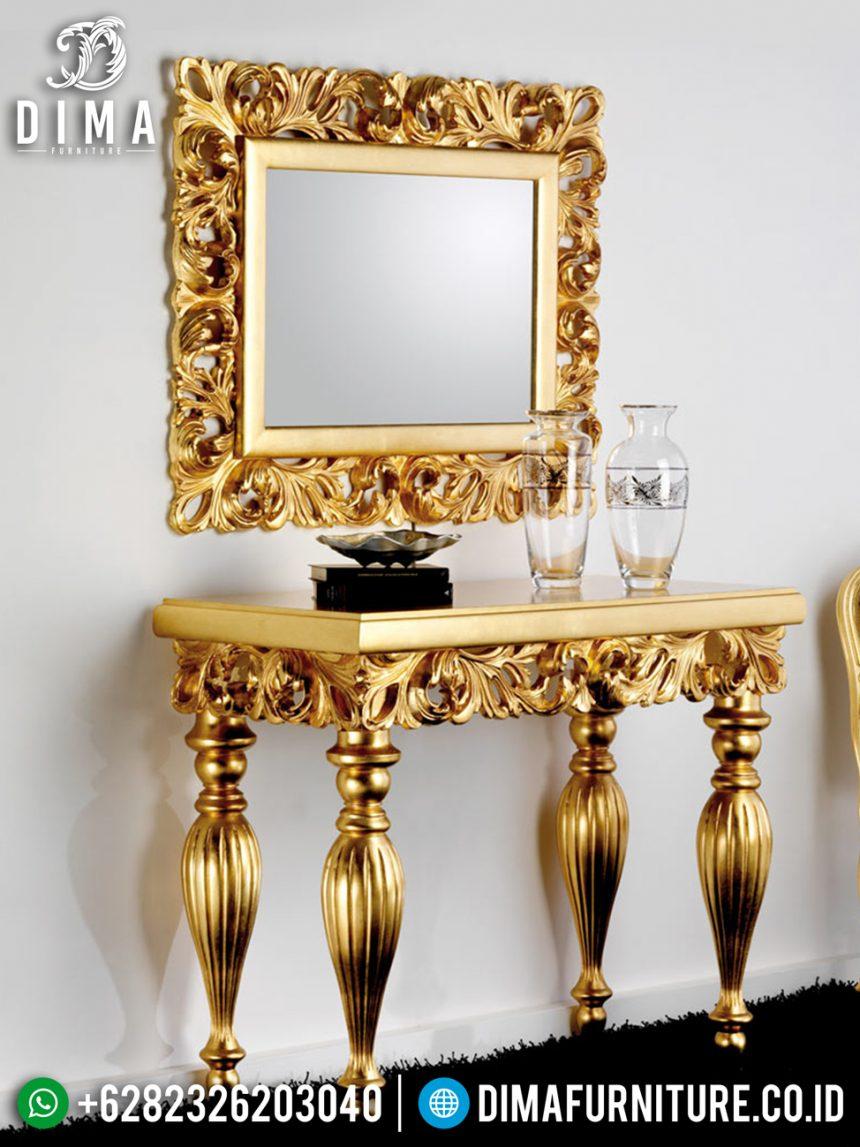 Luxury Golden Cermin Hias Meja Konsol Jepara Terbaru ST-0892
