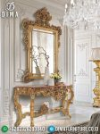 New Elegant Meja Konsol Jepara Ukir Cermin Mewah Golden Crown ST-0894