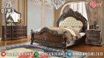 Set Kamar Tidur Jati Mewah Natural Klasik Terbaru ST-0900